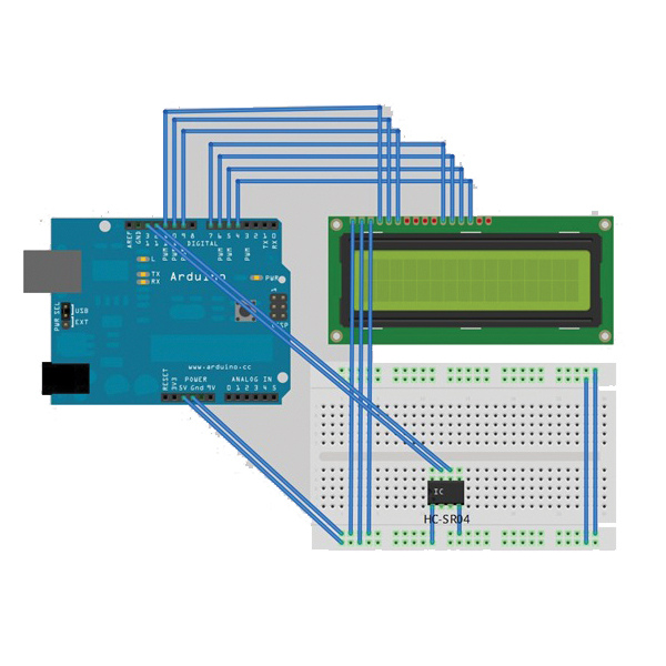Using UltraSonic & Lcd Display