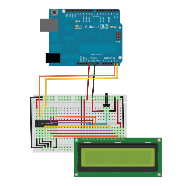 controlling an lcd display  hd44780  via i2c bus