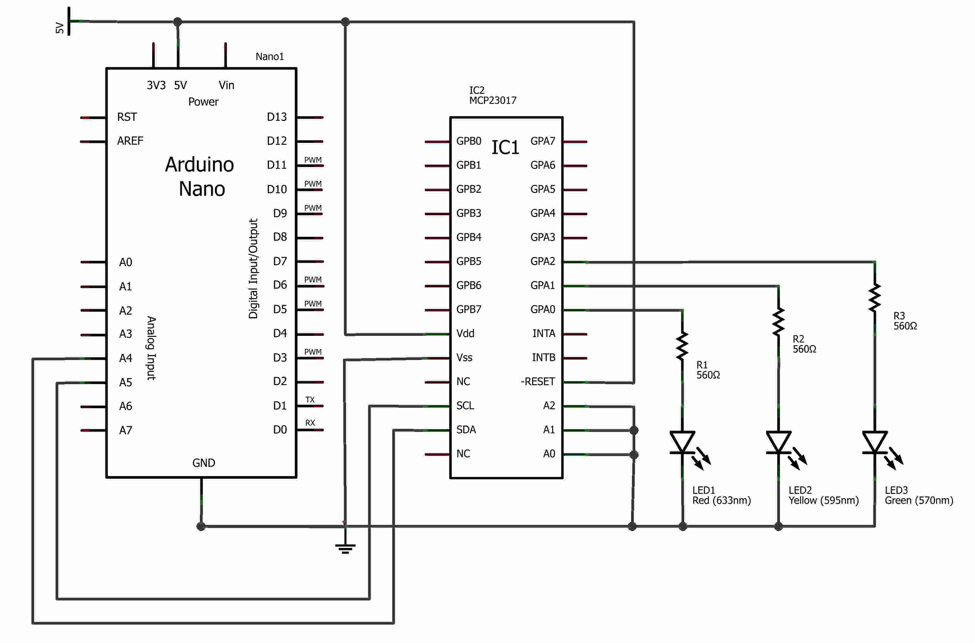 mcp23017-wiring-to-arduino
