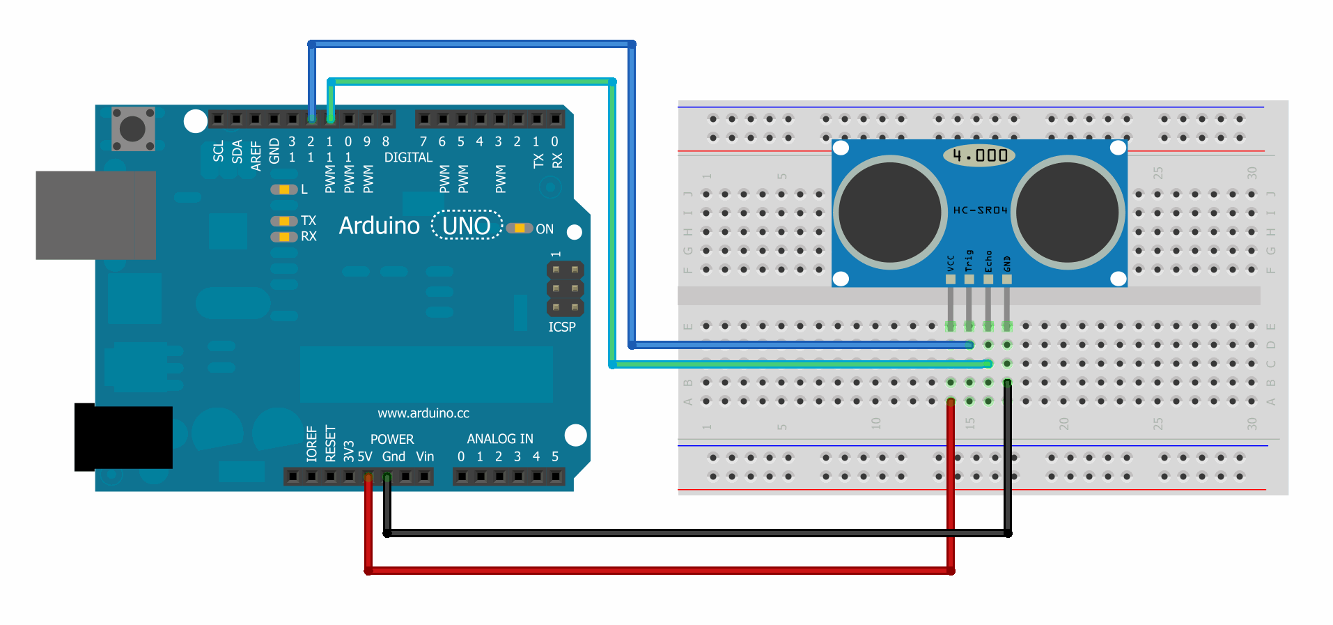 Ranging Detector Measuring Distance With Arduino